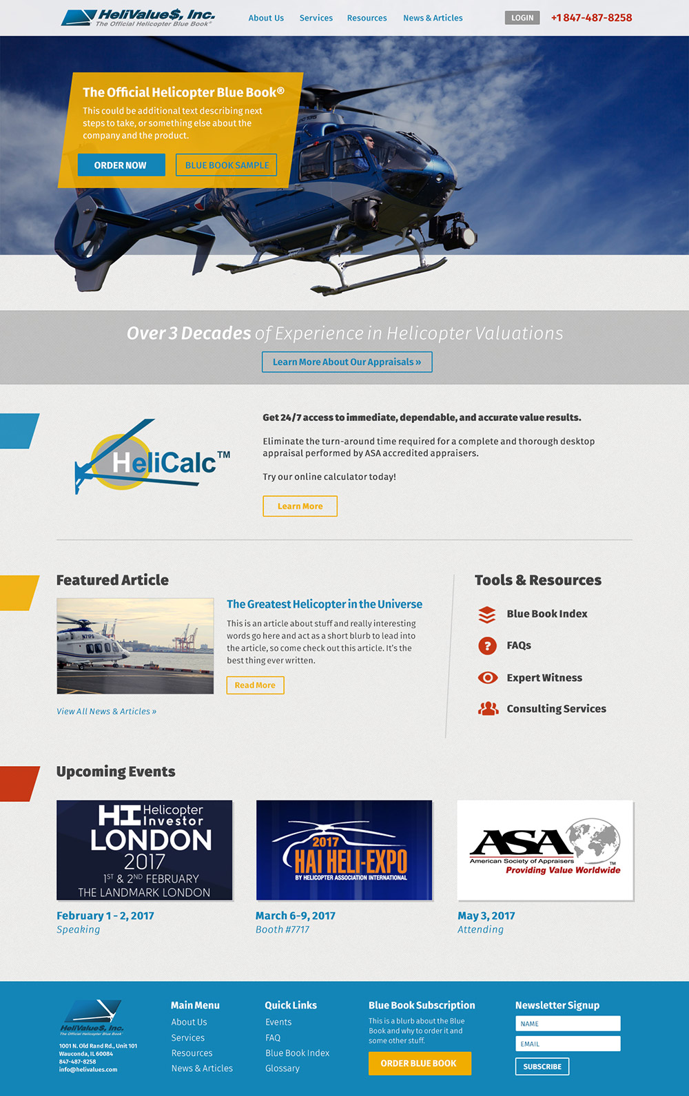 Helivalue$ Homepage